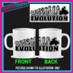 EVOLUTION MONKEY TO QUAD BIKE BIKING COFFEE MUG